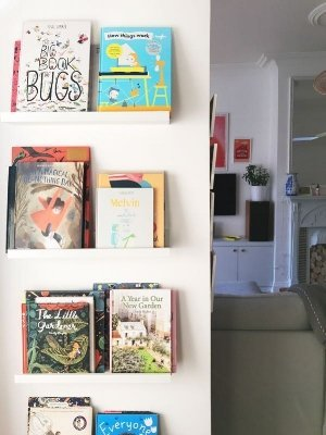 Books display in north London home