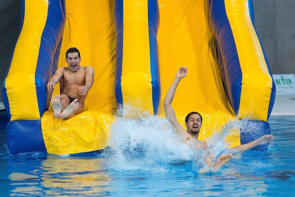 the slide at London Aquatic Centre