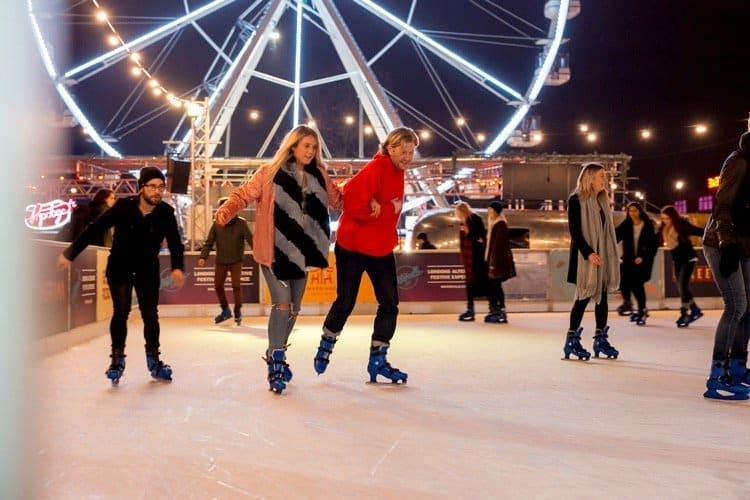 winterville london ice skating rink for kids