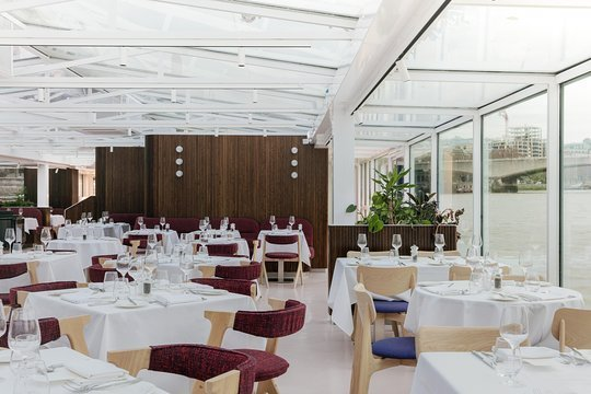 Inside a London Thames River Lunch Cruise