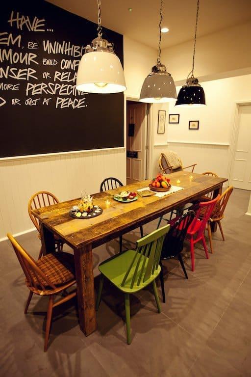 table inside lush spa