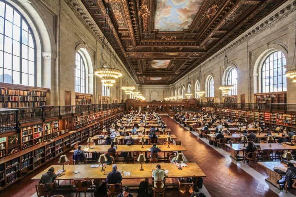 interior at New York Public Library at 42nd Street
