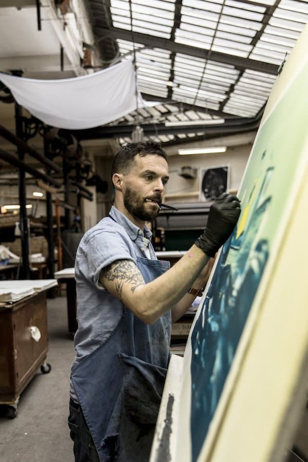 Oliver Jeffers in his studio