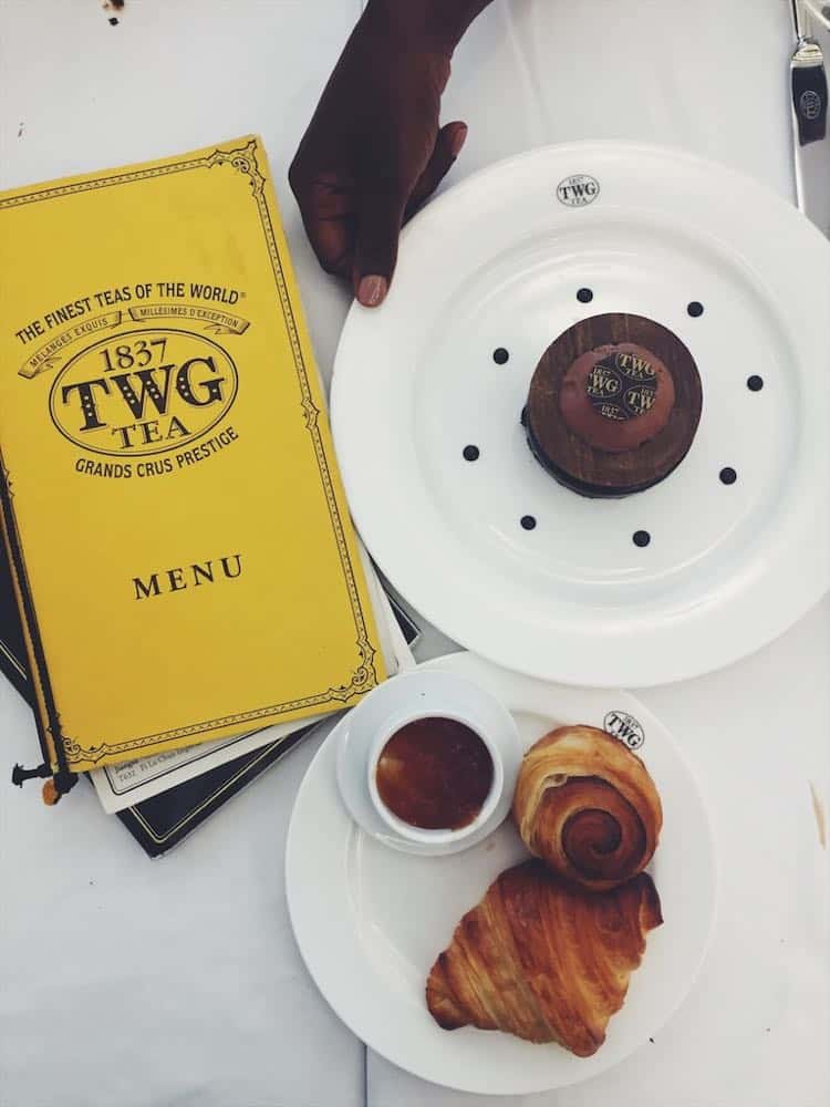 TWG afternoon tea menu