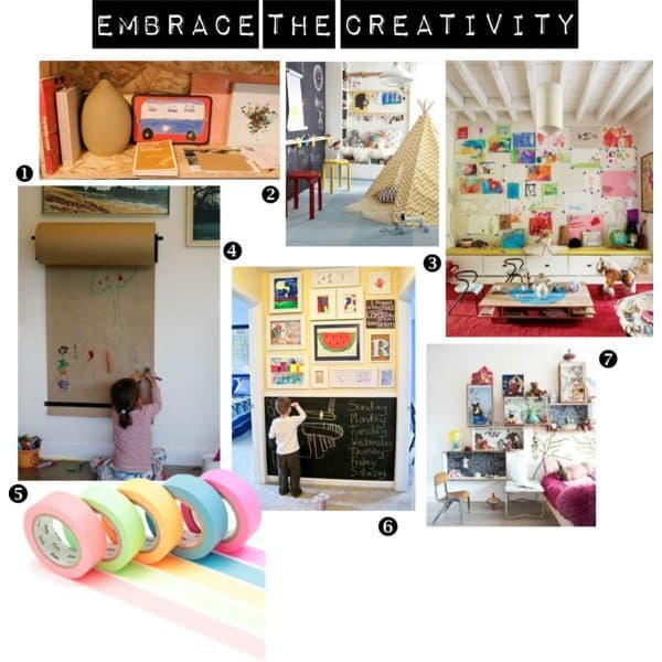 children's art storage ideas