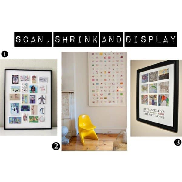 scan, shrink and display your kids' dawings
