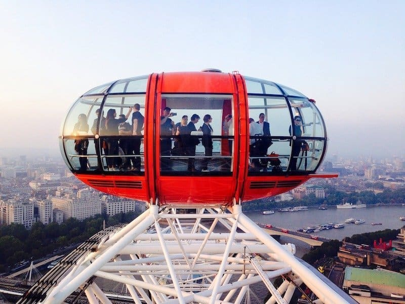 celebrate a special occasion in London on the London Eye