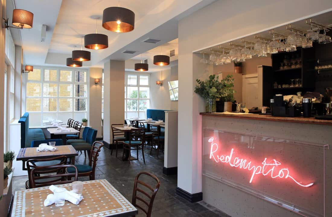 Visit redemption bar for a non alcoholic babymoon drink in London