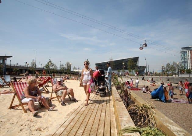 Visit Queen Elizabeth Park's urban beach
