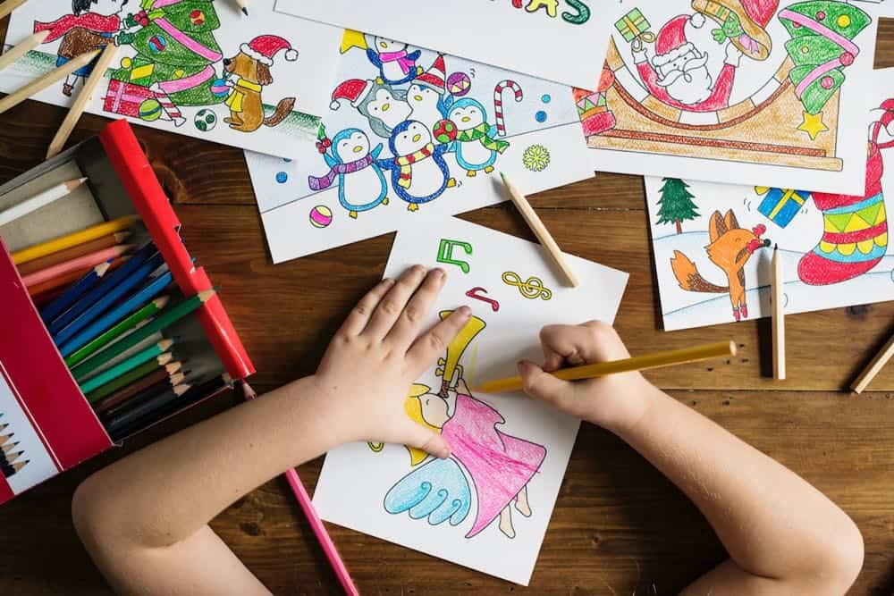 colouring in - Indoor Activities For Kids