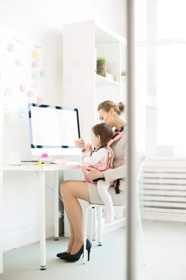working from home when you're a parent is a constant juggle